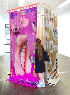the rodina backstage Exhibition Display, Exhibition Space, Collage Poster, Bühnen Design, Textile Artists, Installation Art, Art Direction, Art Inspo, Sculpture Art