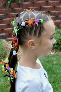 Princess Piggies: Halloween Hairdos: Spider Rings