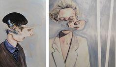 / IGCSE / A Level Art Exam Ideas 2013 portraits by artist Henrietta Harrisportraits by artist Henrietta Harris Portraits, Portrait Art, Disguise Art, Distortion Art, Art Alevel, Gcse Art Sketchbook, Reflection Art, Art Projects For Adults, Identity Art