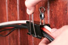 """How to Organize and Hide Your Hanging Computer Cables Under Your Desk: """"An…"""