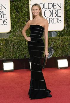 Stacey Keibler in Armani Prive. 2013 Golden Globes