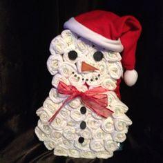 Baby 1st Xmas Nappy Cake/ Hamper Snowman | eBay