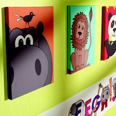 Arthouse Kids - Animal, Set of 3 Canvas, 20x30cm | ACHICA