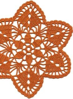 Crochet doily, lace doily, table decoration, crocheted place mat, center piece, doily tablecloth, table runner, napkin, brown via Etsy: