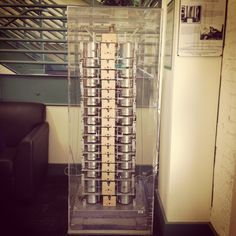 A model of the 16 story Alexander Building in San Francisco. This model was built by Stanford alum John A. Blume in 1934.
