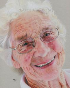 """""""Yvonne"""", 8 x 10 inches, Coloured Pencils and Pitt Pens on Canson Pastel Grey Mat Board - by Karen Hull of 'Karen Hull Art'"""
