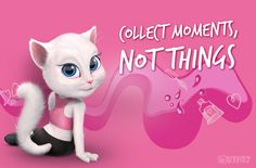 Traveling around the world, discovering new places, and meeting amazing people are some of the things I am most excited about. Almost as much as dancing and singing. Also people say I have the voice of an angel! <3  xo, Talking Angela #talkingangela #mytalkingangela #LittleKitties
