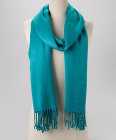 Take a look at this Teal Pashmina-Silk Blend Scarf by Rapti on #zulily today! $14 !!