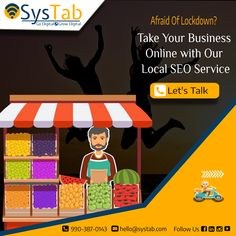 """Afraid of #lockdown? It's time to take your local store online with our #localseoservices. We help you to connect with the audience digitally and grow your business. """"Ignoring online marketing is like opening a business but not telling anyone."""" 📞 990-387-0143 (Free Consultation) ✉ hello@systab.com #localbusiness #marketingdigital #localseo #seo #localseomarketing #localseoservices #localseocompany #localseoexpert #SysTab #digitalmarketing #lockdown2021"""