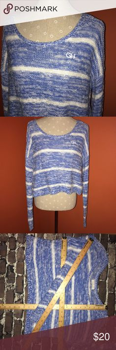 GILLY HICK~Stripe Cropped knit Sweater~size M Wear alone or with a favorite tee or tank underneath. Awesome for jeans and beyond. Gilly Hicks Sweaters Crew & Scoop Necks