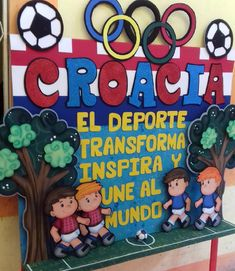 Diy And Crafts, Arts And Crafts, Sports Day, Smurfs, Projects To Try, Collage, Classroom, Scrapbooking, Board