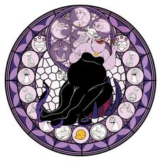 Kingdom Hearts Stain Glass Ursula