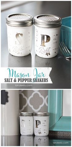 The BEST Do it Yourself Gifts – Fun, Clever and Unique DIY Craft Projects and Ideas for Christmas, Birthdays, Thank You or Any Occasion Mason Jar Salt & Pepper Shakers DIY Gift Idea Tutorial Diy Craft Projects, Diy Crafts, Fall Projects, Decor Crafts, Mason Jar Projects, Mason Jar Crafts, Mason Jar Kitchen Decor, Deco Dyi, Pot Mason Diy