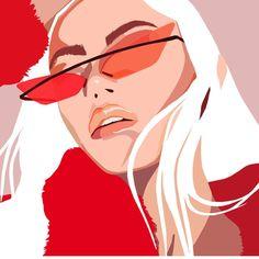 The illustrator hotlist 2018 Portrait Illustration, Graphic Illustration, Art Sketches, Art Drawings, Pop Art Drawing, Illustrator, Art Et Design, Posca Art, Art Watercolor
