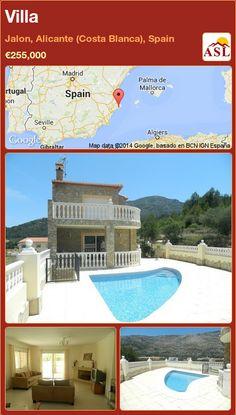 Villa in Jalon, Alicante (Costa Blanca), Spain ►€255,000 #PropertyForSaleInSpain