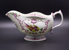 First Period Worcester Porcelain Fancy Birds Sauceboat c1765 | eBay