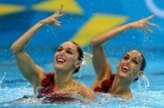 AFP: Fuentes y Carbonell ganan la medalla de plata en el dúo de natación sincronizada