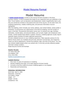 resume examples acting sample actors format actor template word pin baby modeling model templates