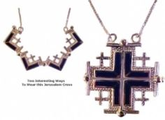 Jerusalem Cross with Lapis Stones Duet   $94.99