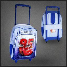 Trolley Disney Cars bleu pas cher d'école. Un chouette sac à ...