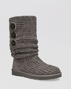 UGG Australia Bailey Bling Boots found on Polyvore featuring shoes, boots, grey, ugg australia, mid-calf boots, shiny boots, grey shoes an… | Top Shoes ...
