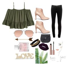 """""""👄👄👄"""" by nataliga ❤ liked on Polyvore featuring rag & bone, Lenox, Chanel, Opening Ceremony, Ray-Ban, WALL, Jimmy Choo, Lime Crime, Vita Fede and Kate Spade"""