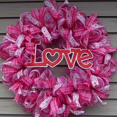 Valentines Day Wreath Valentines Wreath Love Wreath Valentines