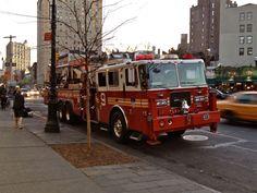 FDNY TL9 on 6th Ave. in Greenwich Village  photo by me! http://www.nyfirestore.com :)