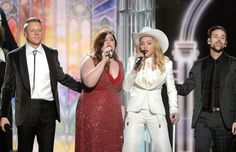 GRAMMY Awards - (L-R) Rapper Macklemore, singers Mary Lambert and Madonna, and musician Ryan Le. Mary Lambert, Talib Kweli, Big Finish, Tv Ratings, Same Love, Big Night, Iggy Azalea, White People, Prom Dresses