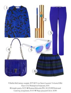 Cobalt blue! The hottest color right now!  Shop the looks : daily fashion, party, and model news