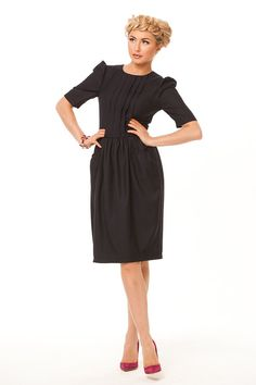 Little Black Dress- every woman must be a little black dress. Can this dress for you?Dress hugs the figure emphasizing her .