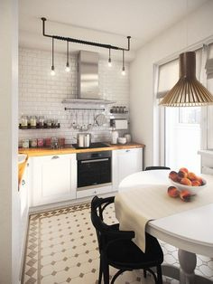 """Закончили еще одну небольшую """"скандинавскую"""" квартиру. Изначальный план, как зачастую бывает, не располагал к особым """"творческим"""" решениям. Рассекающая…"""
