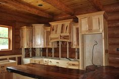 Rustic Kitchen Cabinets are crafted using many different species of wood.