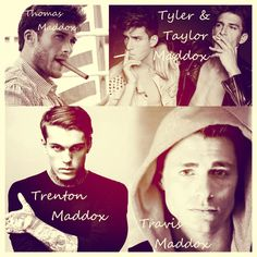 The Maddox Brothers: Travis Maddox, Trenton Maddox, Thomas Maddox, Taylor Maddox, Tyler Maddox (Beautiful Disaster, Walking Disaster, Beautiful Oblivion - Jamie McGuire) ♥