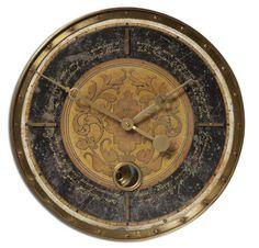 18 Inch Leonardo Script Black Wall Clock buy at Lights in the Northern Sky. www.lightsinthenorthernsky.com