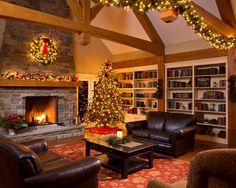 Decoração de Natal para residência rústica.  Fotografia: http://www.decorfacil.com