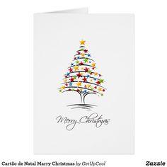 Cartão de Natal Marry Christmas