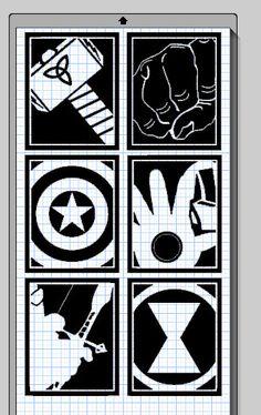 Avenger Hero Cameo Silhouette File