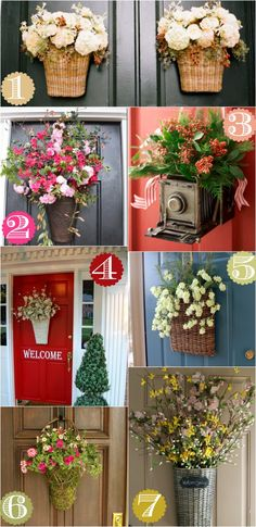 36 Creative Voordeur Decor Ideas {ikke en krans - Lilly is Love Front Door Design, Front Door Decor, Wreaths For Front Door, Door Wreaths, Front Porch, Unique Front Doors, Home Decoracion, Deco Floral, Summer Wreath