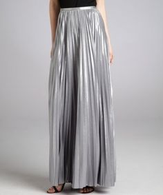 Shiny: Halston Heritage sterling pleated maxi skirt #ootd #scentstyle