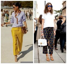 DESIGNER CROPPED WIDE LEG TROUSERS 2013 | A FALL PANTS TREND