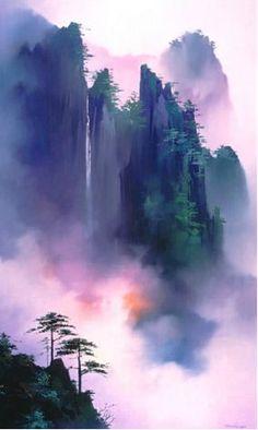 Китайский художник Thomas Leung. Красочные картины. Картина первая