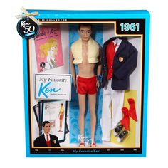 1961 Reproduction My Favorite Ken Doll with Victory Dance 1411SUIT T7668 | eBay
