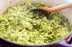 The BEST rice to go with Mexican food? This Mexican Green Rice! A cilantro rice pilaf cooked in chicken stock with poblano chiles, parsley, cilantro, onion, and garlic. Also called Arroz verde. from (Vegan Mexican Food) Rice Recipes, Mexican Food Recipes, Vegetarian Recipes, Cooking Recipes, Healthy Recipes, Best Mexican Food, Rice Dishes, Food Dishes, Green Rice Recipe