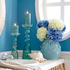 Pier One Imports  - Love the turquoise candle holders