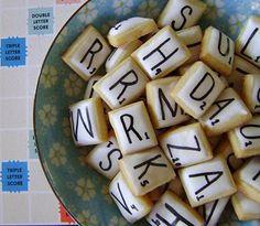 Scrabble cookies.