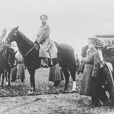 """Tsar Nicholas II of Russia and Tsarevich Alexei Nikolaevich Romanov of Russia in c.a. 1910s. """"AL"""""""