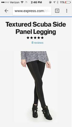 Half leather leggings express medium