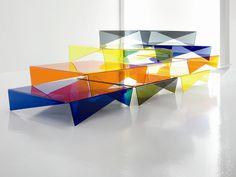 Low Plexiglass Coffee Table VOILÀ by Bonaldo | Design Max Piva @Bonaldo