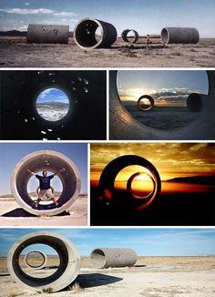 Sun Tunnels Light Art Installation